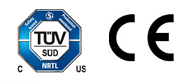 TUV CE safety certification logos