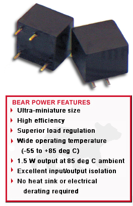 BEAR DC/DC Power Supplies Features