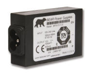 BEAR's patented PCB-mountable AC/DC converter with detachable line cord